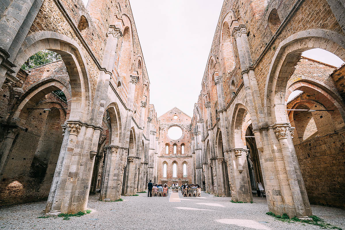 wide view of San Galgano abbey
