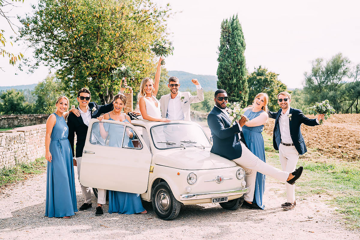 original fiat 500 wedding car