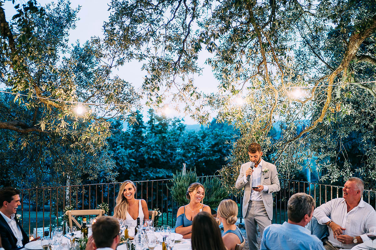 wedding speeches at Villa Podernovo