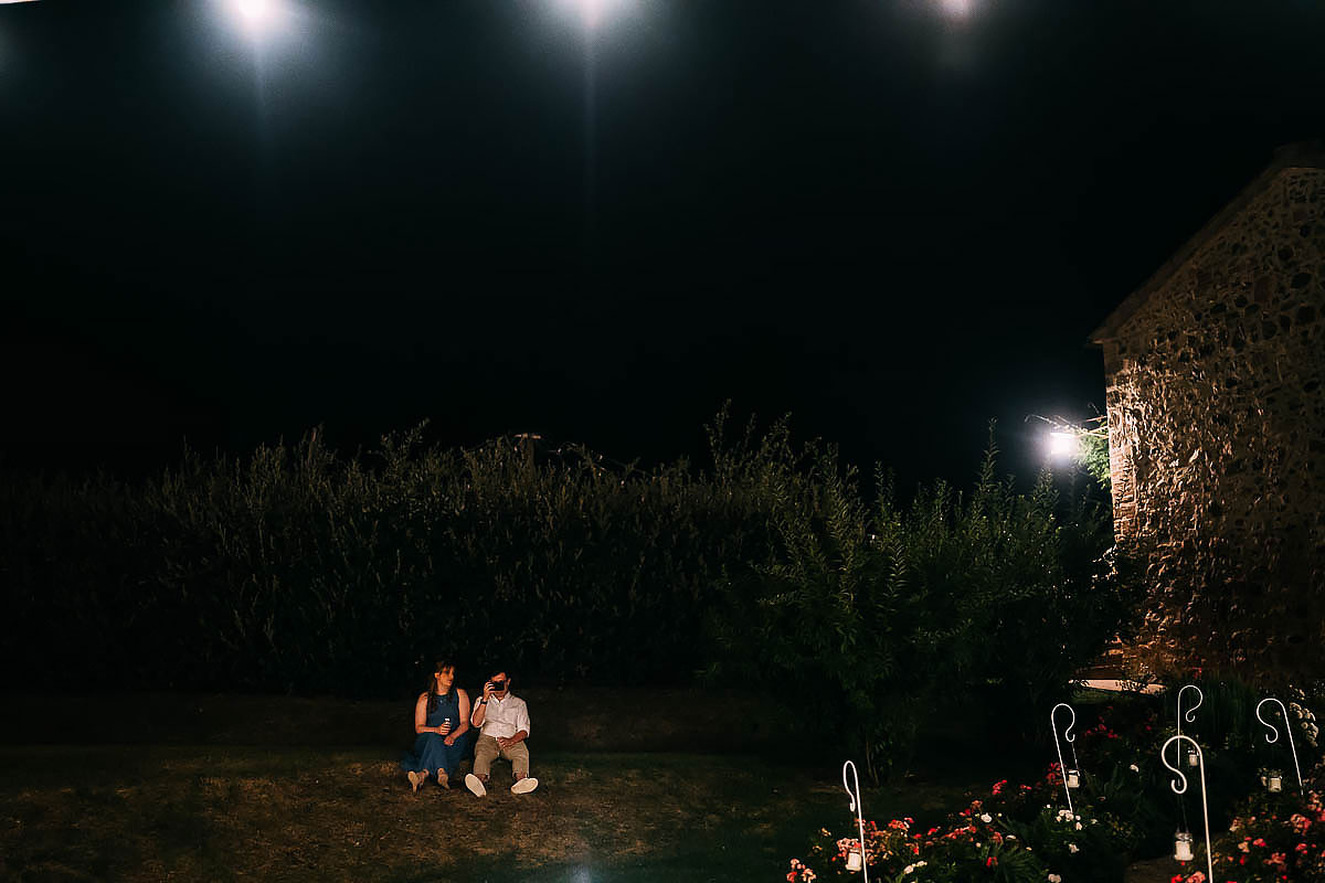 couple relaxing at an Italian wedding