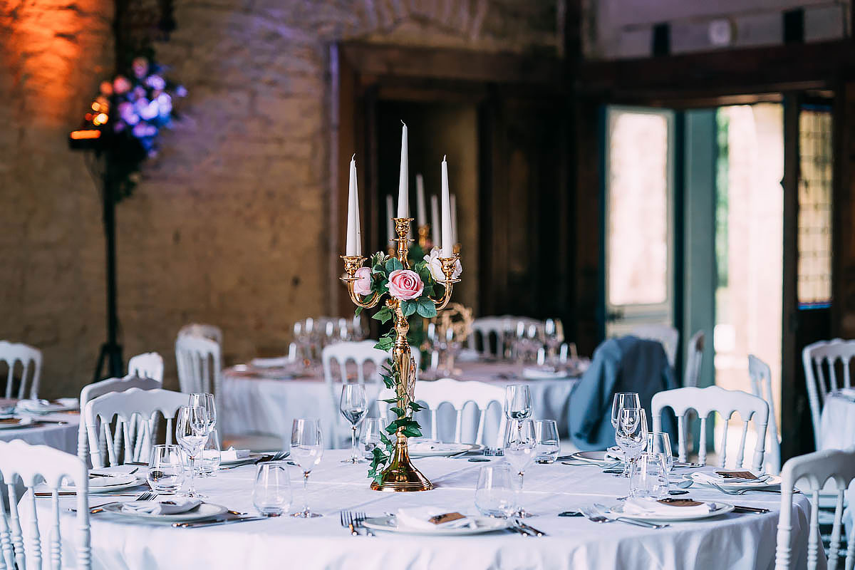 Chateau de Keriolet Wedding decorations