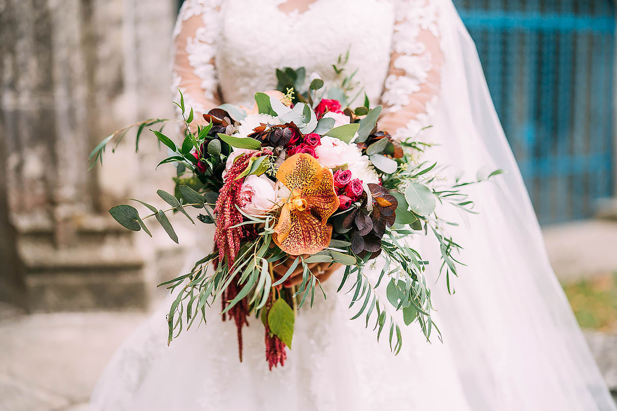 flowers at Chateau de Keriolet Wedding