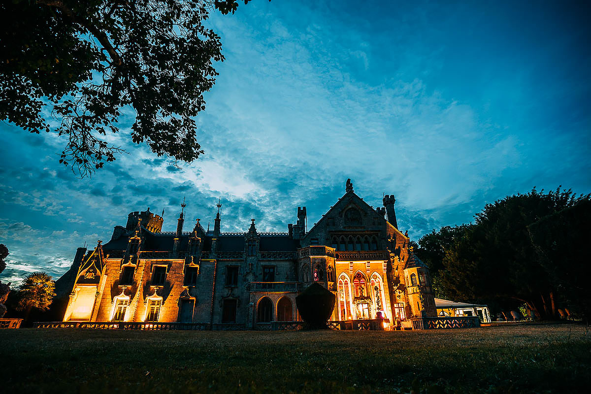 Chateau de Keriolet at night