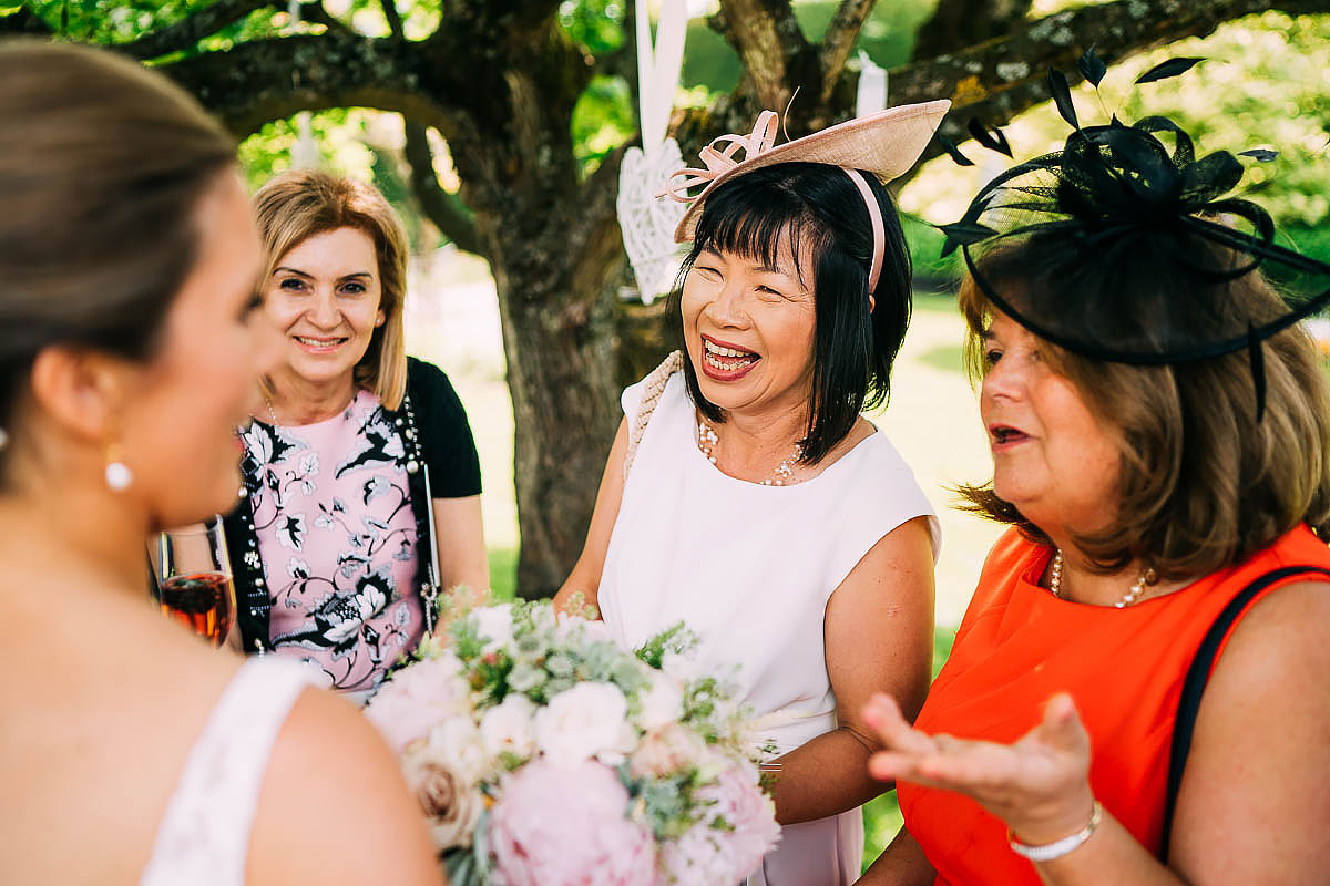 documentary wedding photos Gaynes park