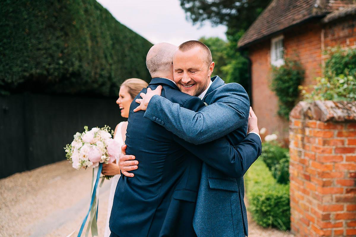 hugs with groom