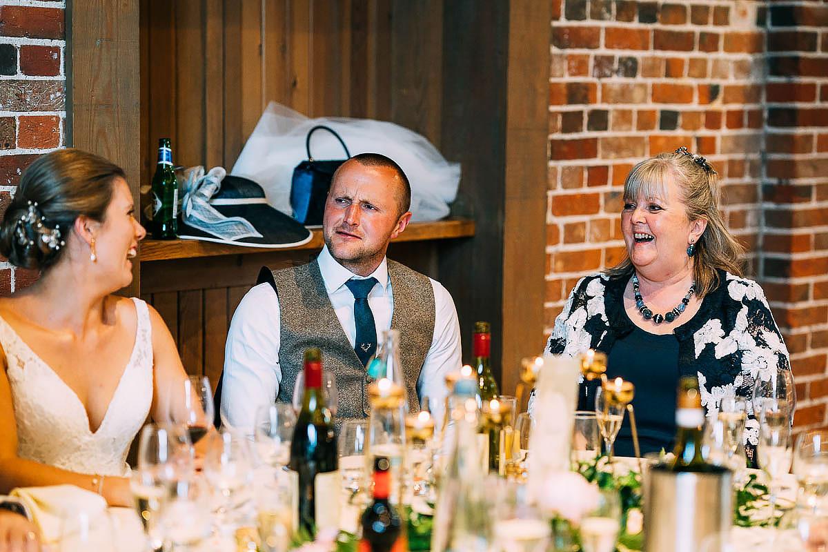 wedding speech reaction groom