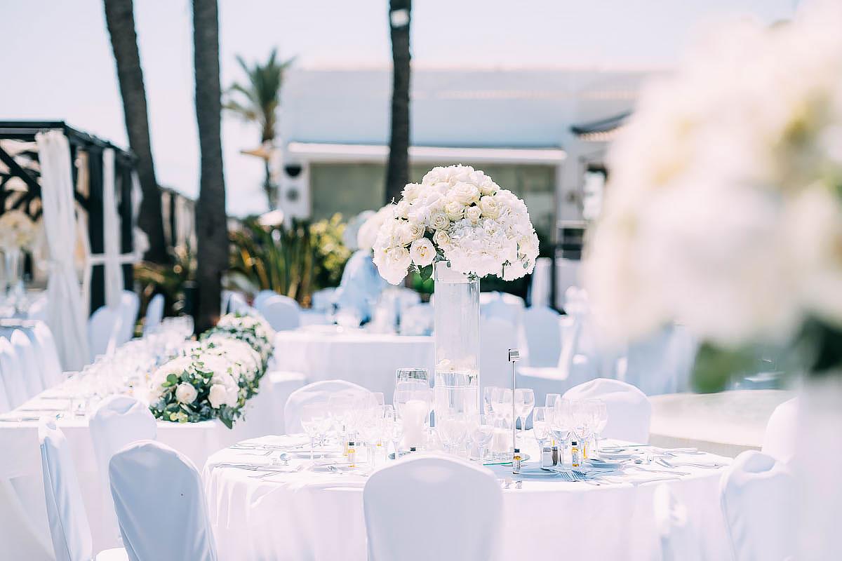 La Cabane Beach Club Wedding decorations