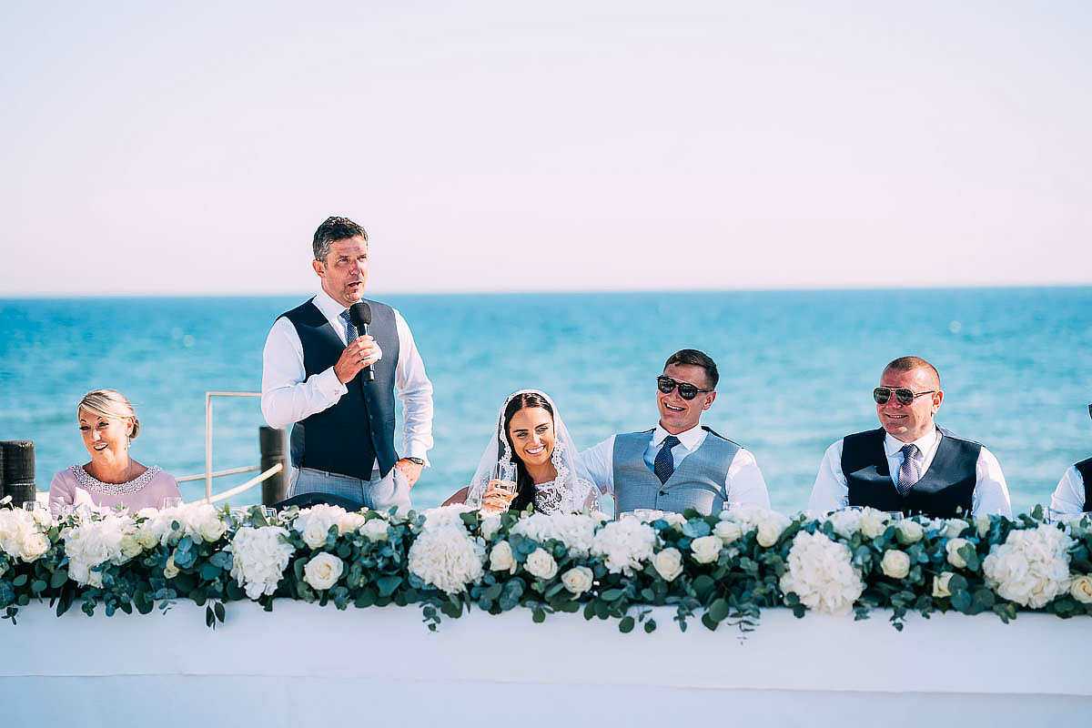 La Cabane Beach Club wedding speeches