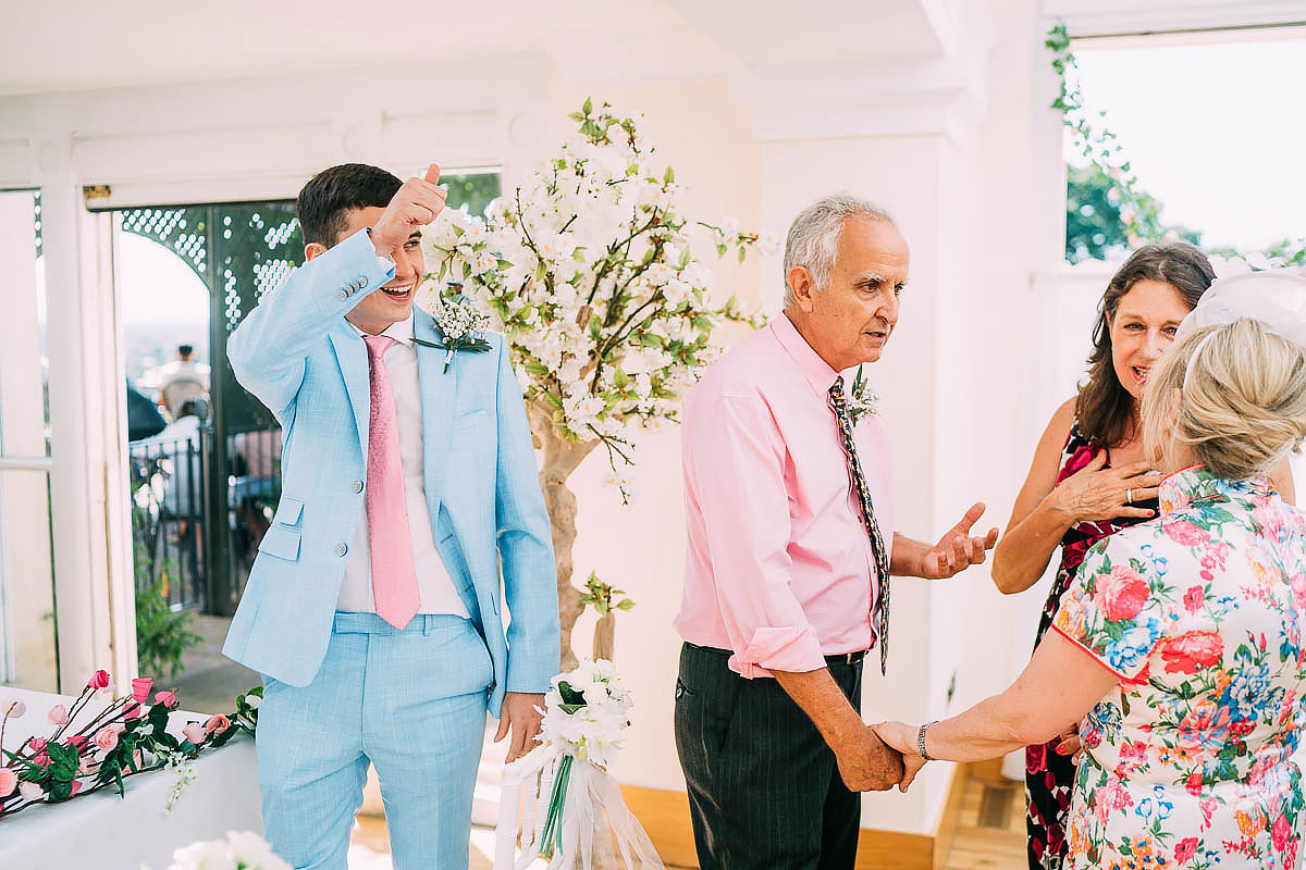 groom giving thumbs up