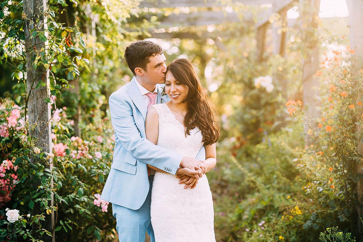 bride and groom at Pembroke lodge wedding