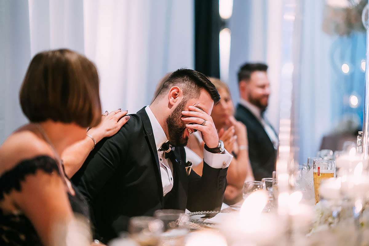 wedding speeches reactions