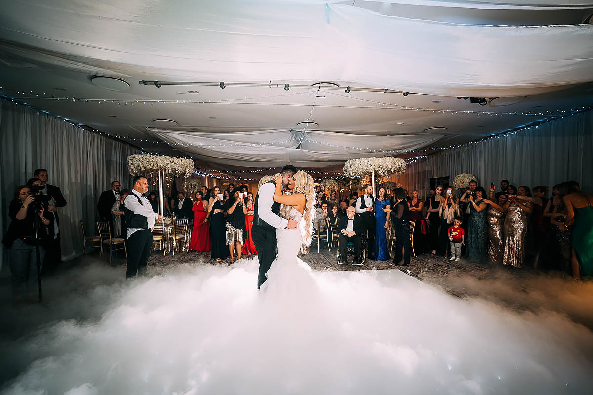 first dance wedding with dry ice