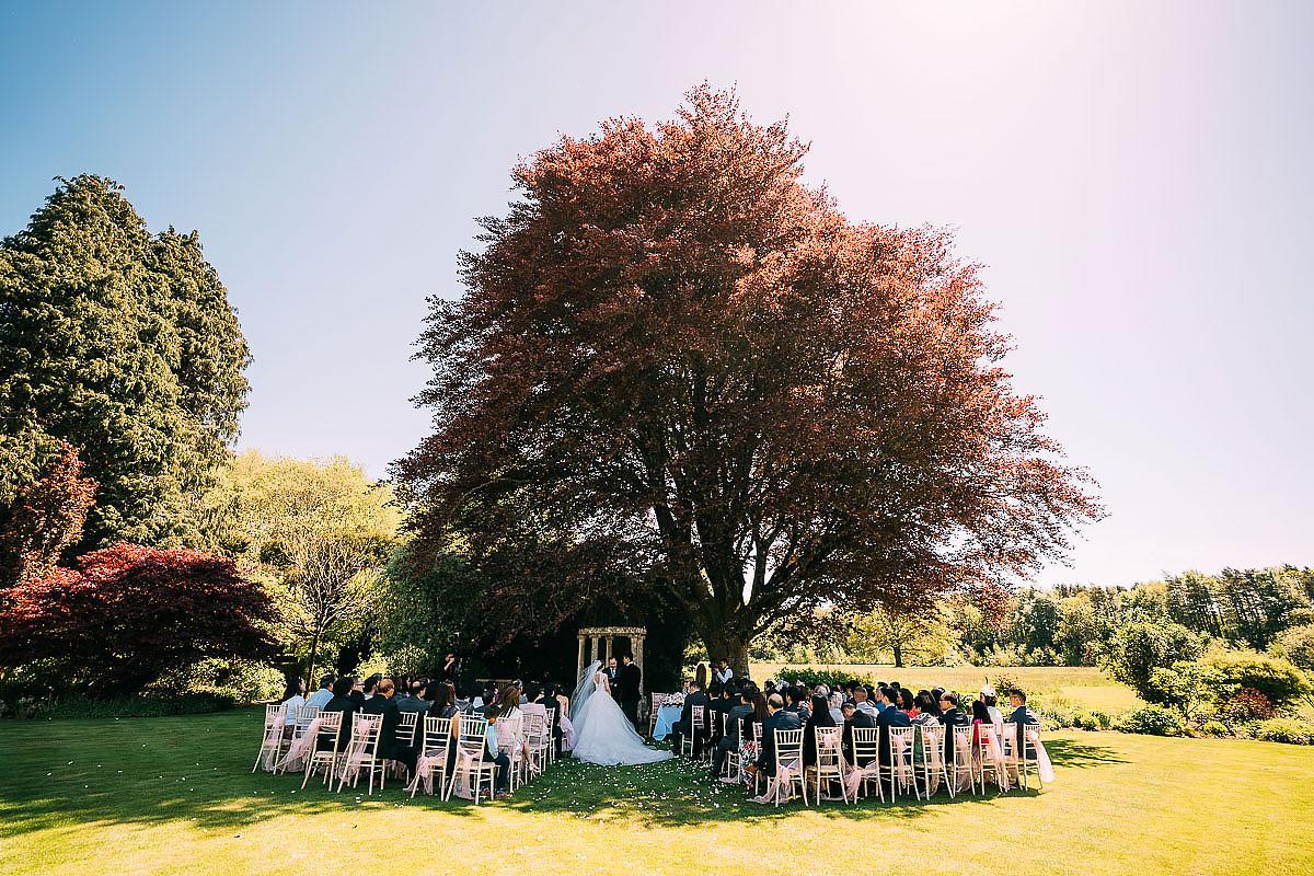 Miskin Manor outdoor wedding