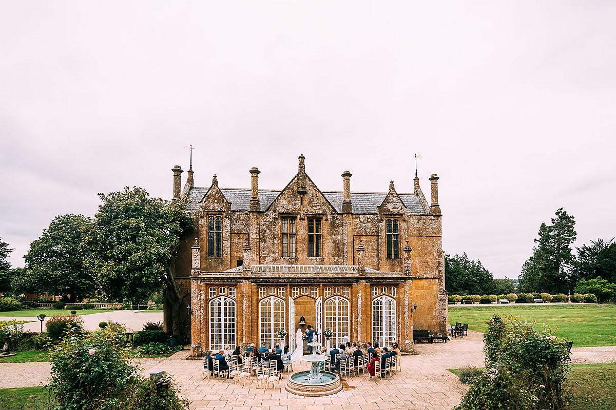 Dillington House outdoor wedding