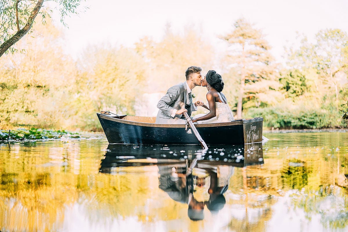 rowing boat wedding