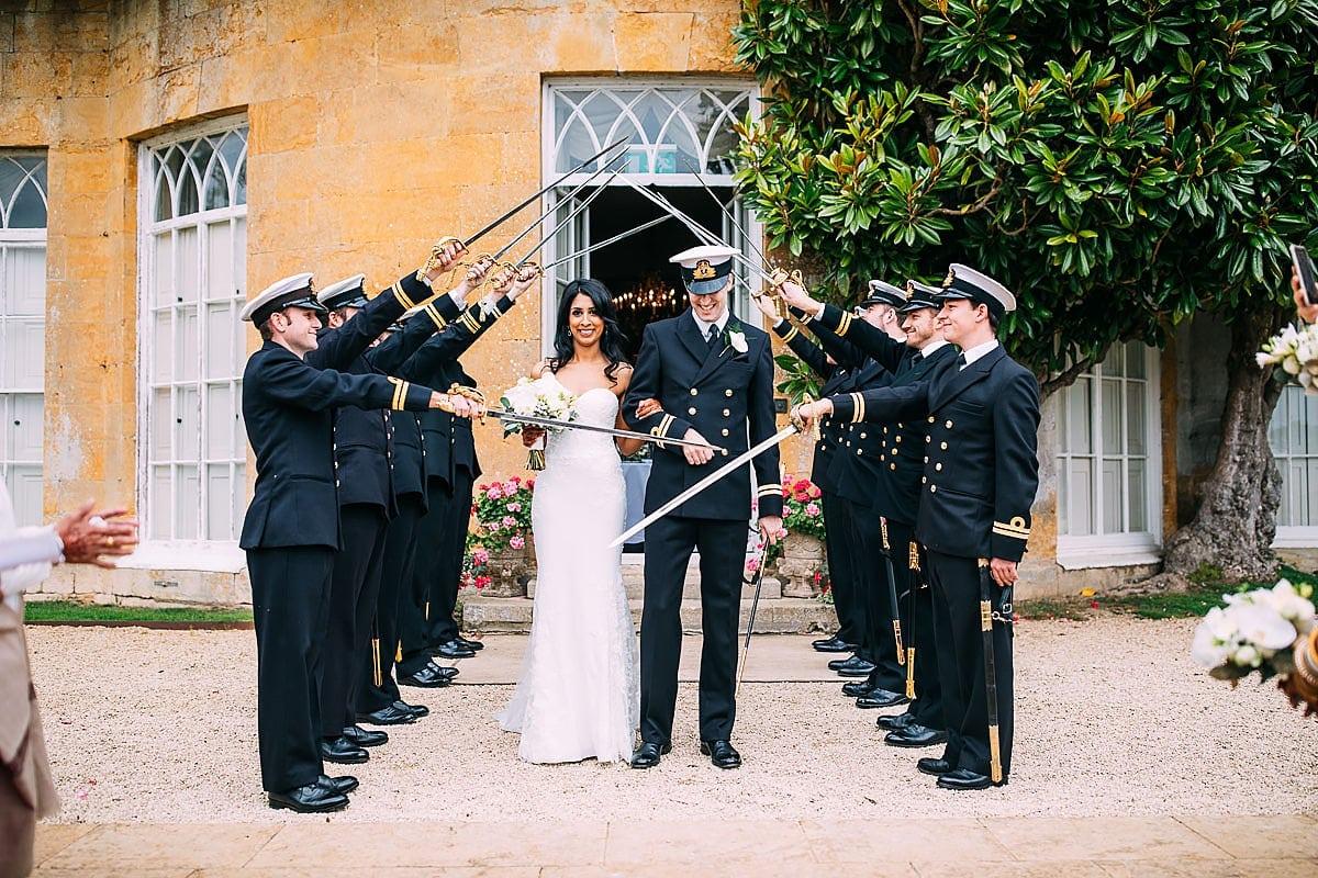 guard of honour at wedding navy