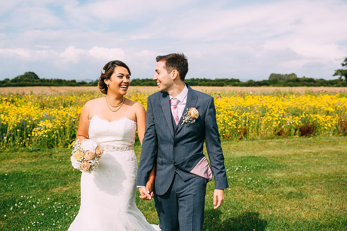 summer wedding at Southend Barns