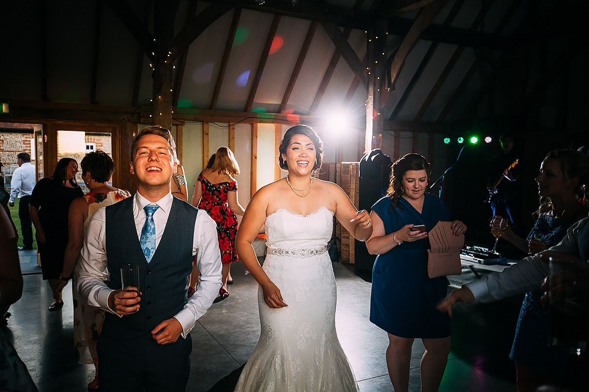 dancing at Southend Barns Wedding