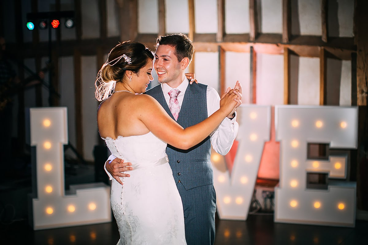 first dance at Southend Barns Wedding