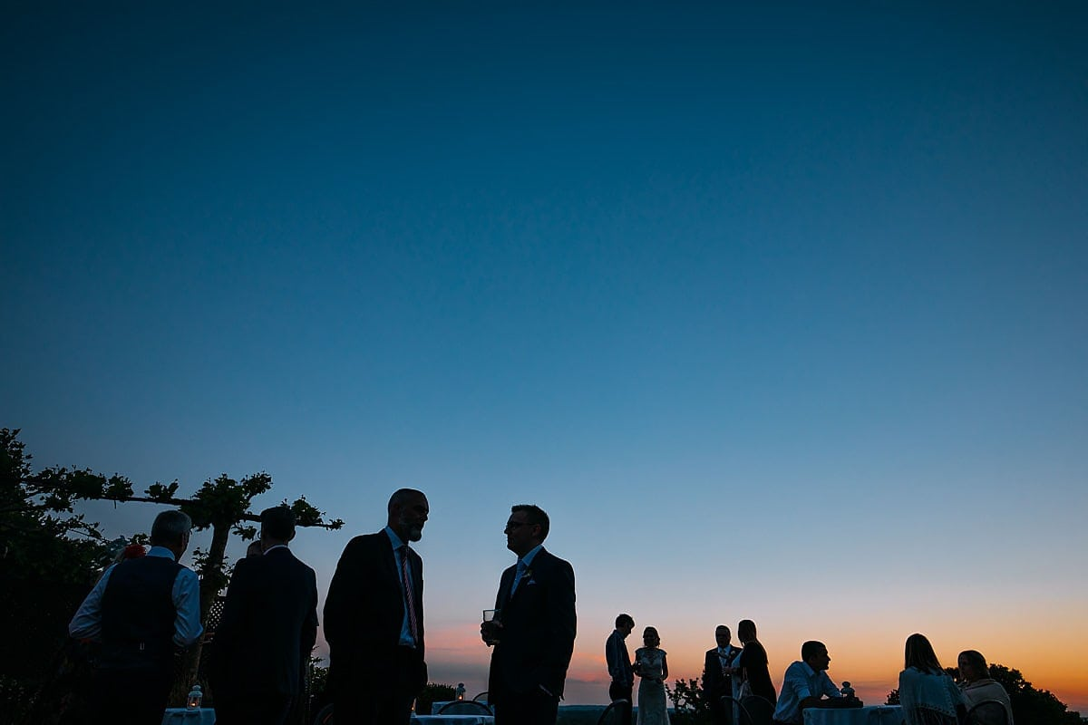 Summer wedding at Pembroke Lodge sunset
