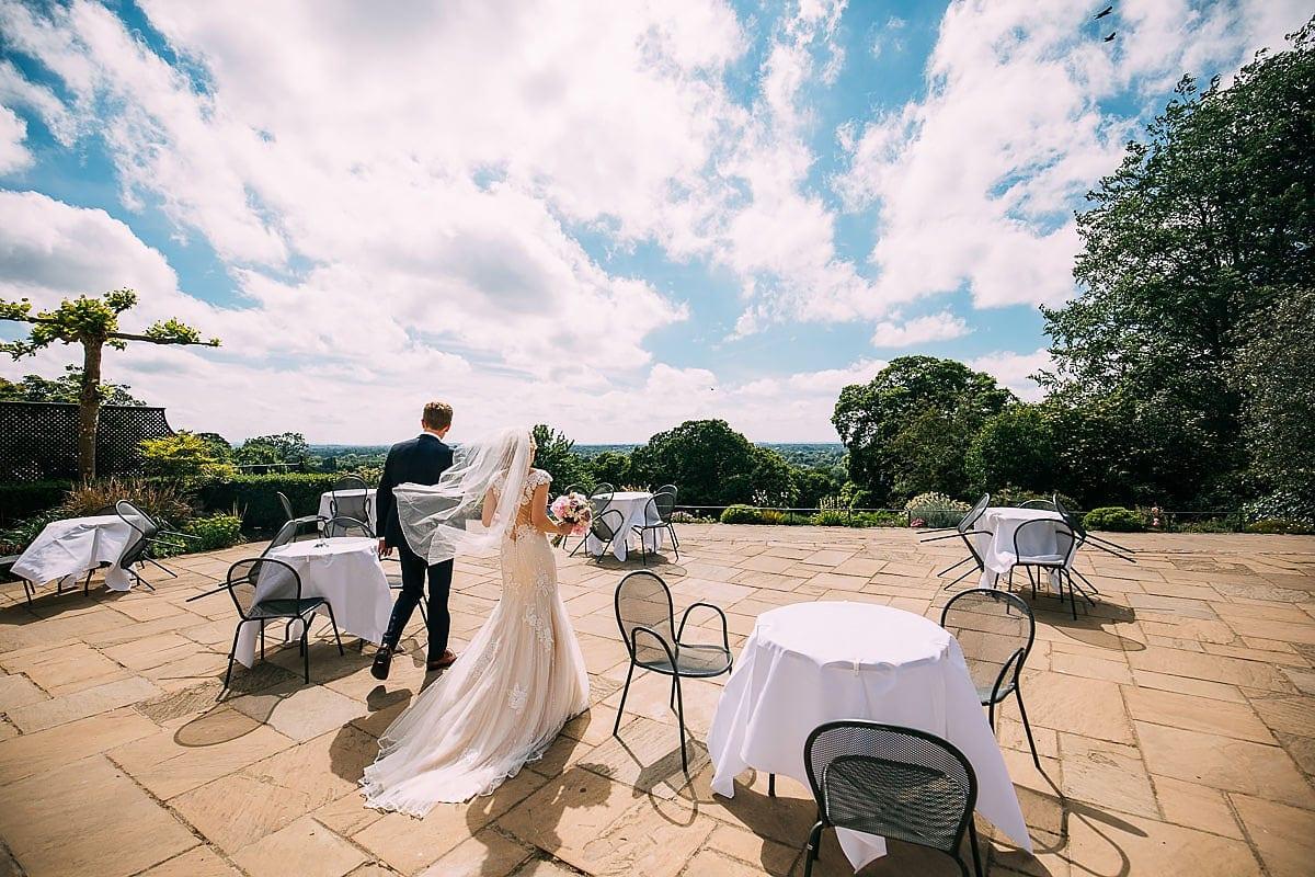 Pembroke Lodge terrace wedding