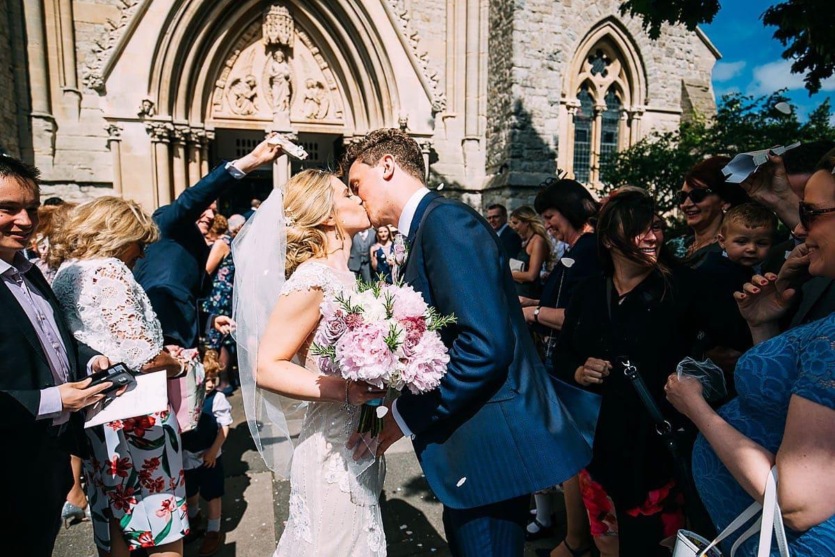 St Matthias Church Richmond wedding confetti