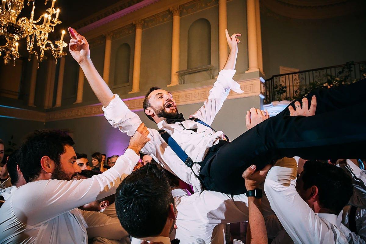 groom partying hard