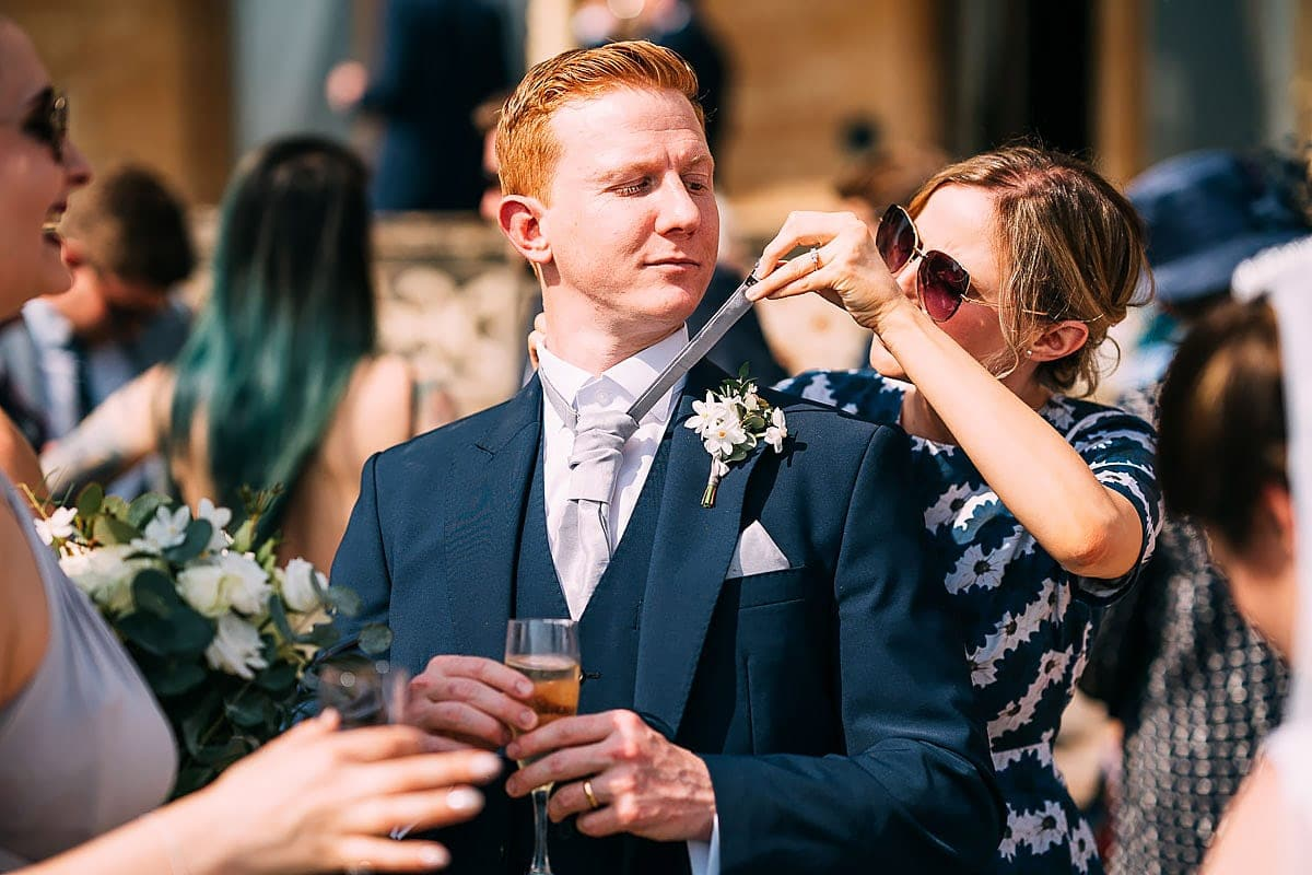groom and cravat