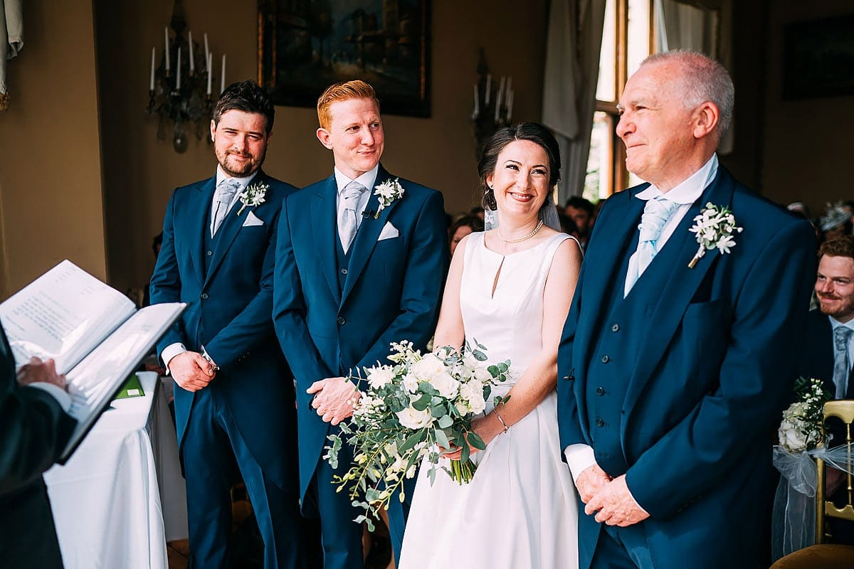 wedding ceremony at Orchardleigh House
