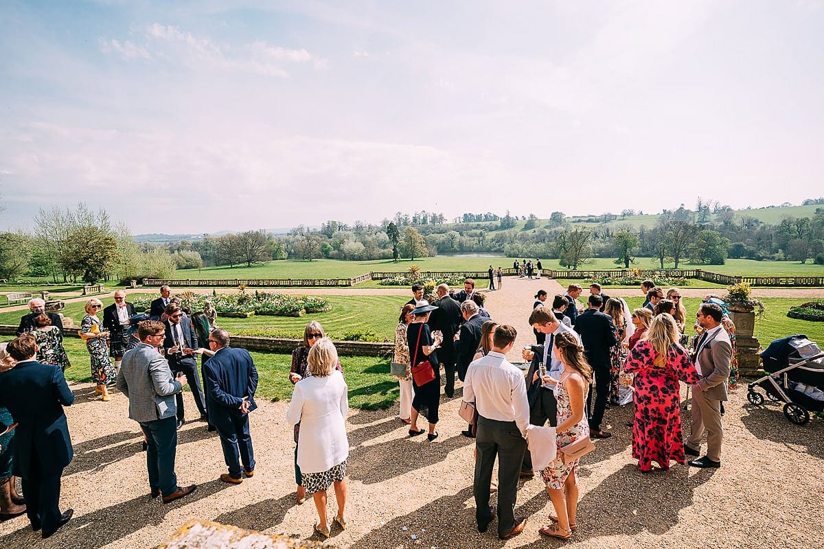 views from Orchardleigh wedding