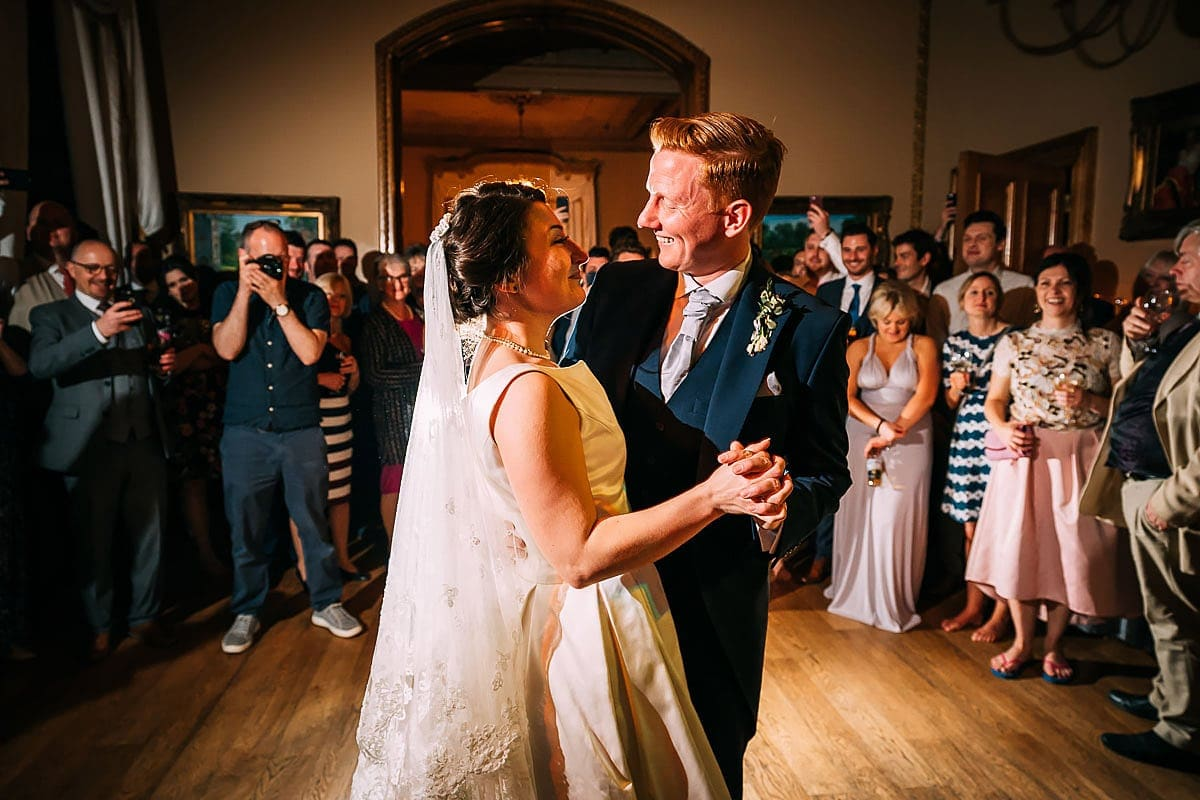 first dance at Orchardleigh wedding
