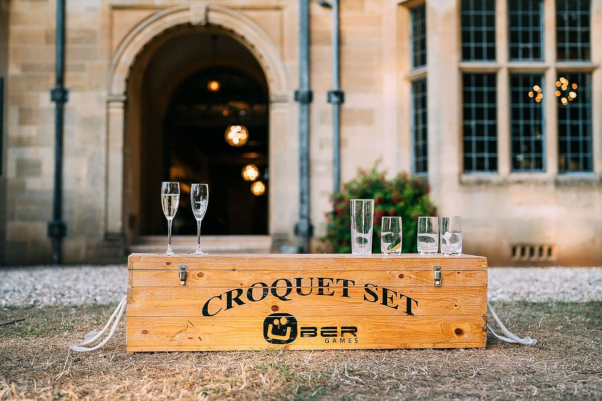 croquet wedding set