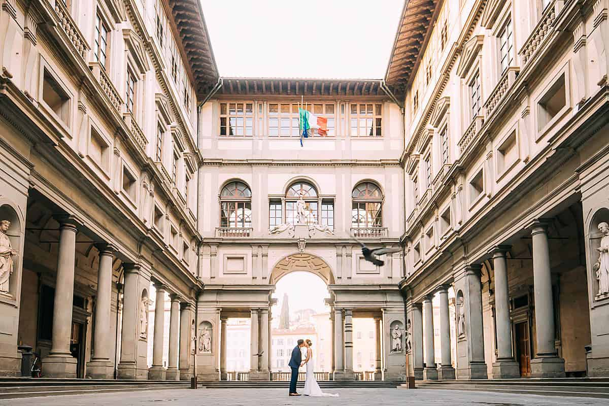 Florence pre wedding shoot in winter