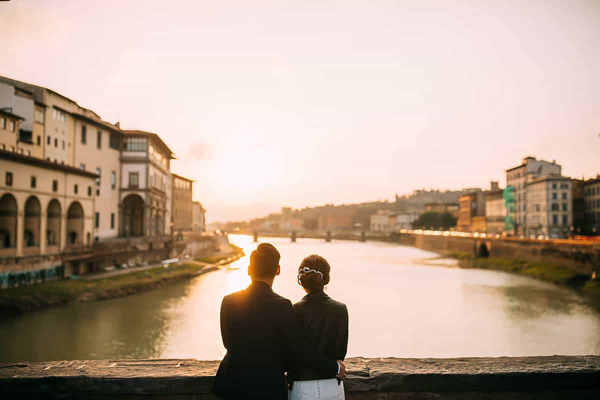 ponte vecchio engagement shoot