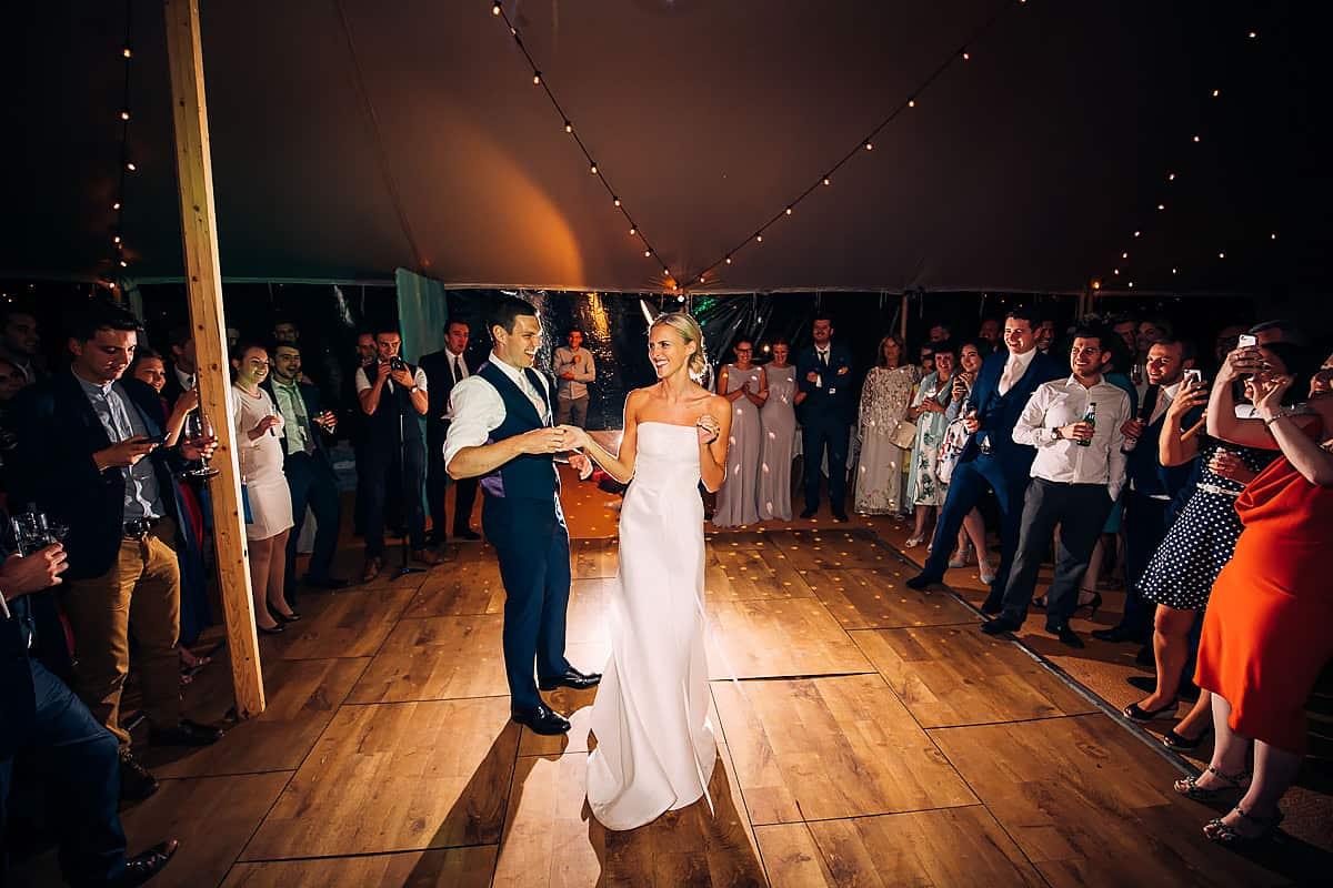 dancing at Yorebridge house wedding