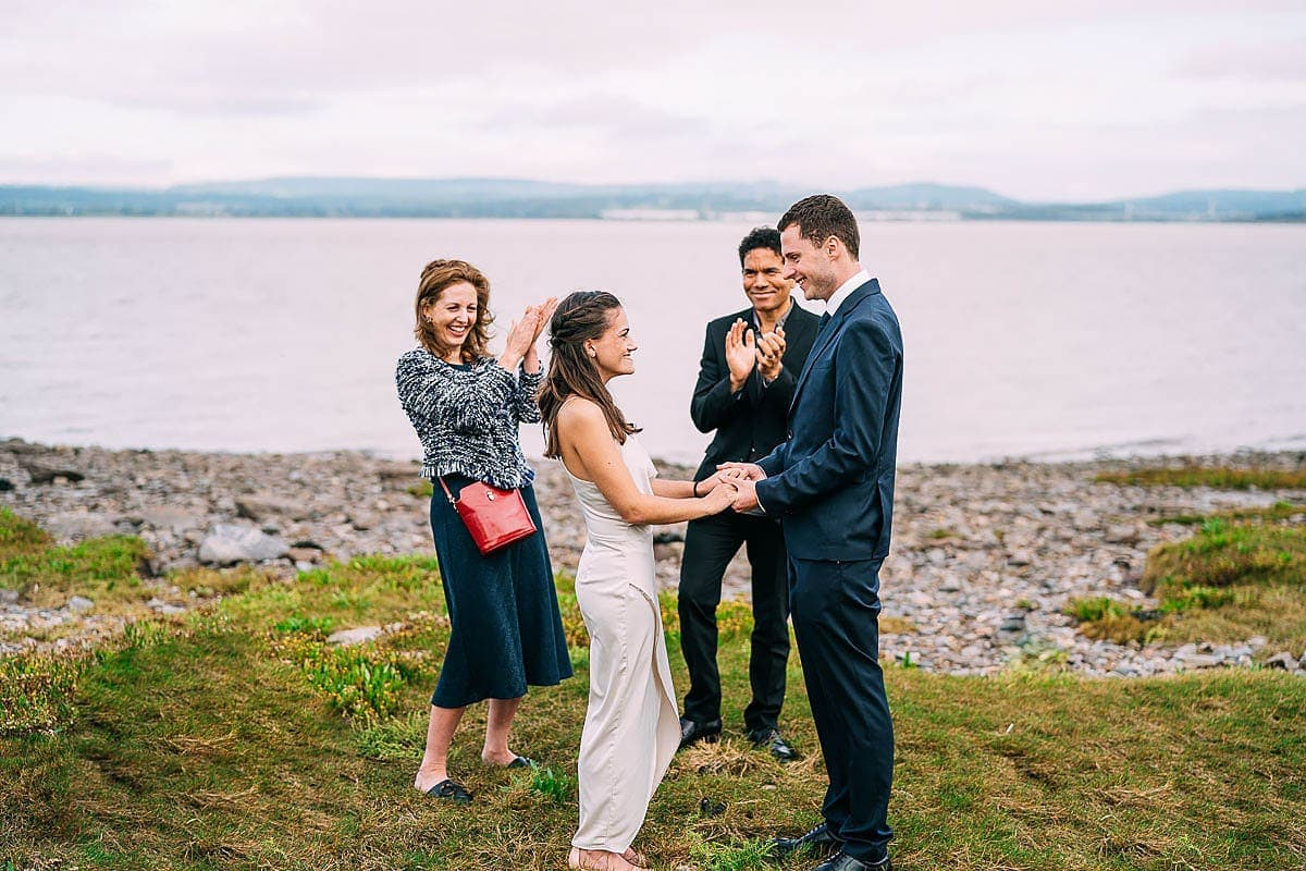 small wedding by the sea