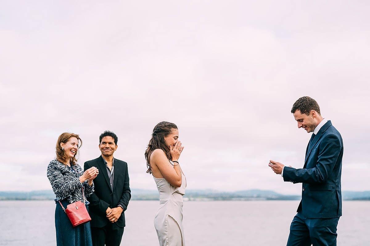 wedding vows reaction