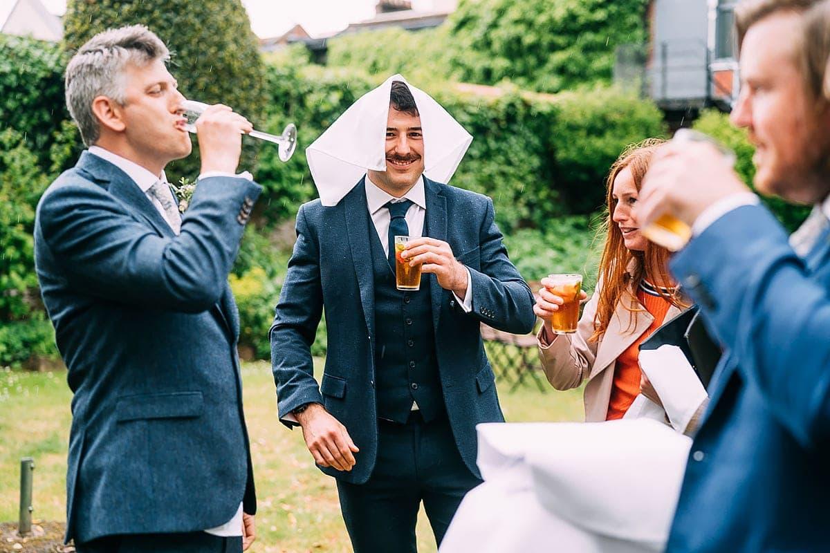 rainy wedding in bristol