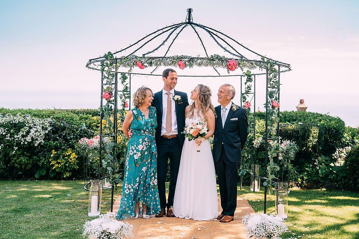 outdoor wedding Isle of Wight