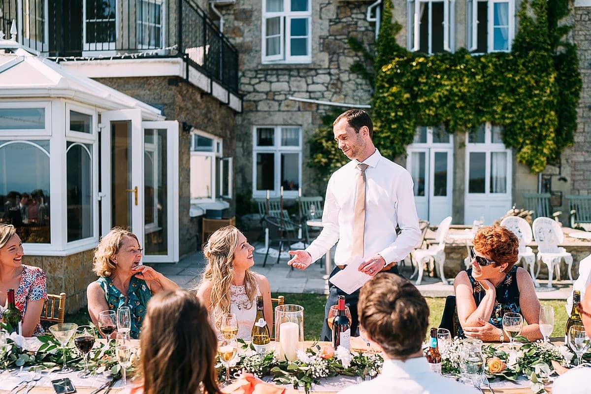 wedding speeches in garden