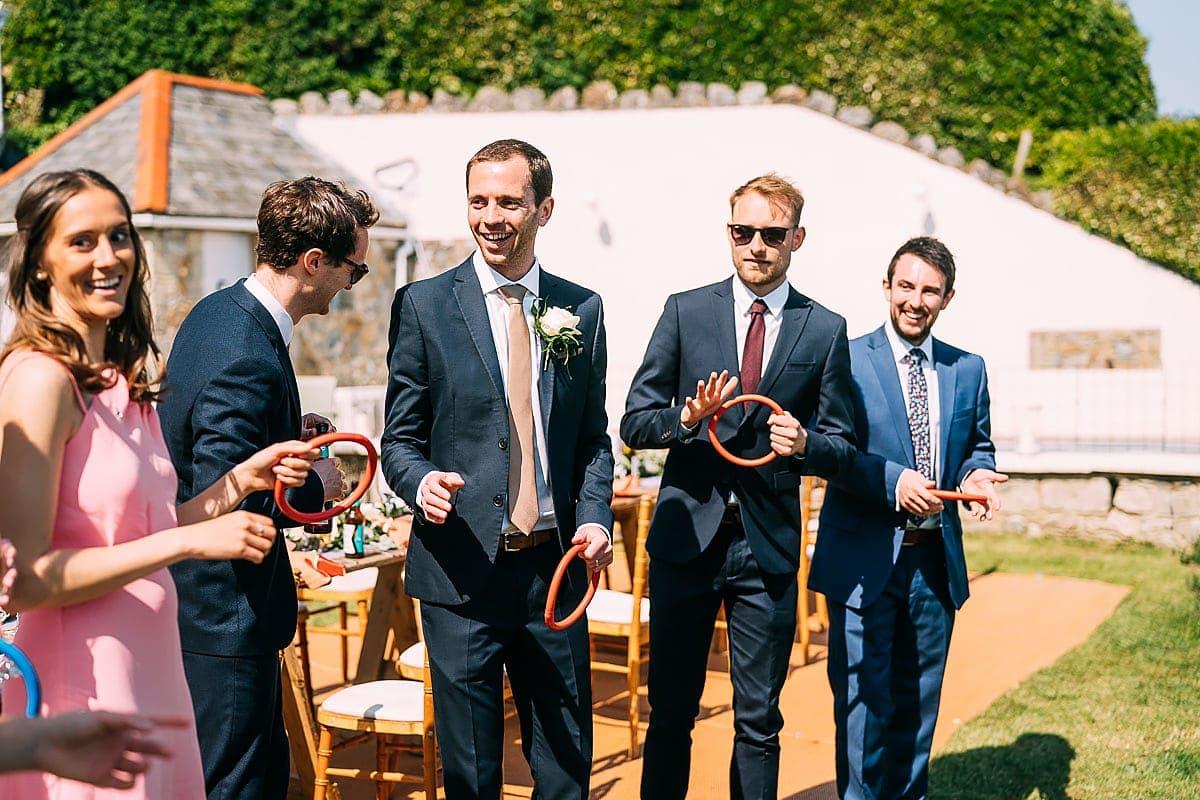 garden games at wedding