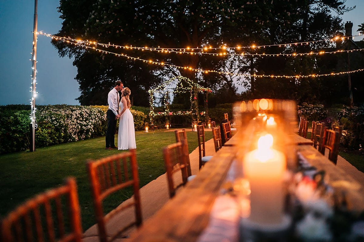 lighting a wedding at night