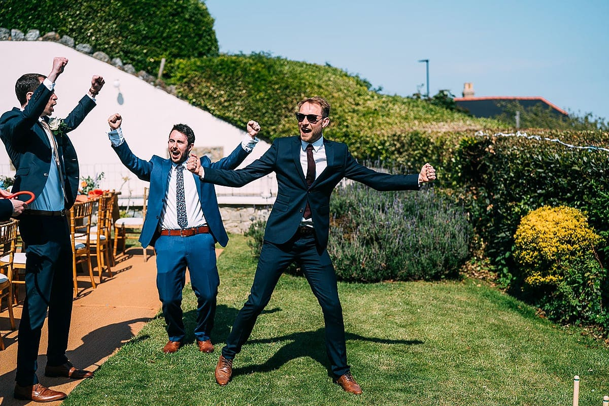 fun garden games at a wedding